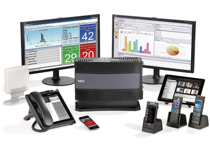 NEC SV9100 business phone system, voice mail, and accessories